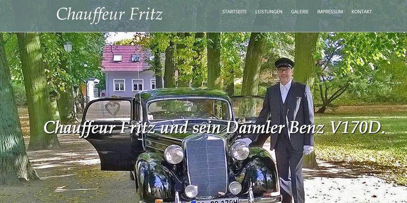 Chauffeur Fritz und sein Daimler Benz
