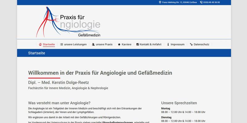 Angiologie Frau Dipl.-Med. Dolge-Reetz