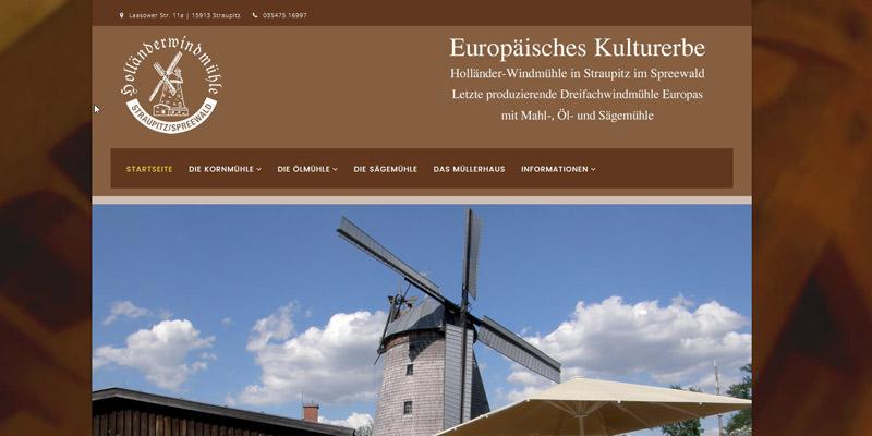 Holländer-Windmühle in Straupitz im Spreewald